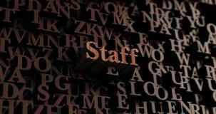 Personal - hölzernes 3D übertrug Buchstaben/Mitteilung Stockbild