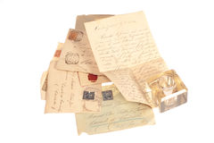 Personal handwritten letter Stock Photos