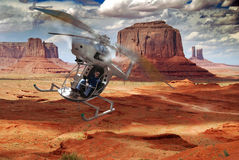 Personal helicopter. A small, light and home-made helicopter Royalty Free Stock Photography