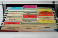 Personal and House Documents Organisation Stock Photo