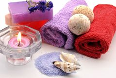 Personal hygiene with a candle Stock Image