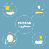 Personal hygiene concept design Royalty Free Stock Images