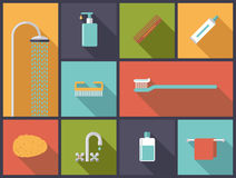 Personal Hygiene Flat Design Icons Vector Illustration Royalty Free Stock Image