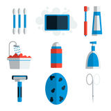Personal hygiene flat icons Stock Image