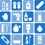 Personal hygiene icons. Some icons related with personal hygiene Royalty Free Stock Photo
