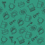 Personal hygiene icons pattern Royalty Free Stock Images