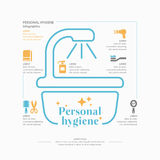 Personal hygiene infographics. Stock Photos