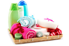 Personal hygiene items. Accessories for sauna or spa. Stock Photos