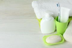 Personal hygiene products Royalty Free Stock Images