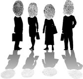 Personal_ID. Raster silhouette graphic depicting concept of individual identification (fingerprints Royalty Free Stock Photos