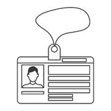 personal identification card icon Royalty Free Stock Photography