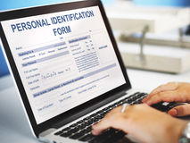 Personal Identification Form Application Concept Royalty Free Stock Image