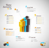 Personal infographics Lizenzfreie Stockfotos