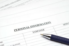 Personal information  form Royalty Free Stock Images