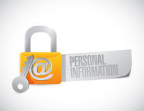 Personal information secure. concept. Illustration design over a white background Royalty Free Stock Photos