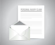 Personal injury claim illustration design Stock Image