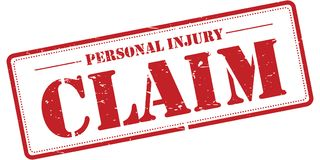 Personal injury claim. An illustration of a rubber stamp with the text 'Personal Injury Claim Stock Image