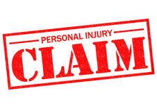 PERSONAL INJURY CLAIM. Red Rubber Stamp over a white background Stock Image