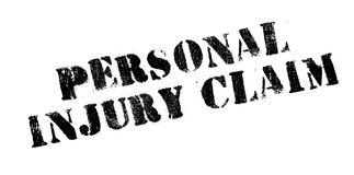 Personal Injury Claim rubber stamp. Grunge design with dust scratches. Effects can be easily removed for a clean, crisp look. Color is easily changed Stock Images
