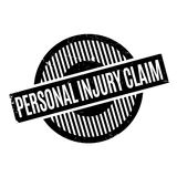 Personal Injury Claim rubber stamp. Grunge design with dust scratches. Effects can be easily removed for a clean, crisp look. Color is easily changed Royalty Free Stock Photos