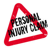 Personal Injury Claim rubber stamp. Grunge design with dust scratches. Effects can be easily removed for a clean, crisp look. Color is easily changed Stock Photo