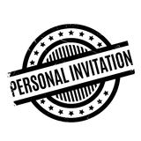 Personal Invitation rubber stamp. Grunge design with dust scratches. Effects can be easily removed for a clean, crisp look. Color is easily changed Royalty Free Stock Image