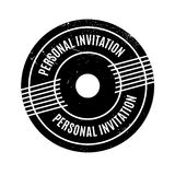 Personal Invitation rubber stamp Royalty Free Stock Photo
