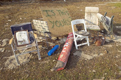 Personal items look for owners after Hurricane Ivan in Pensacola Florida Royalty Free Stock Photos