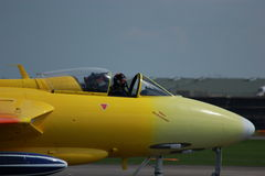 Personal Jet. A photo of a personal jet preparing to perform at a airshow. Made possible by yeovilton airshow Royalty Free Stock Photos