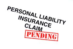 Personal Liability Insurance Claim stock photography