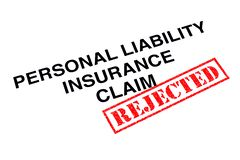 Personal Liability Insurance Claim stock image