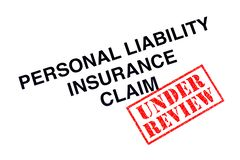Personal Liability Insurance Claim royalty free stock image