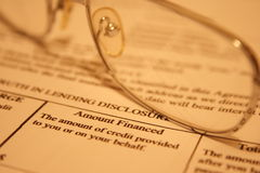 Personal loan  application Stock Photo