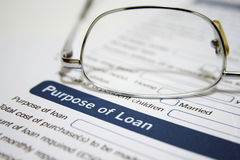 Personal loan  application Royalty Free Stock Image