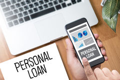 PERSONAL LOAN money with bank employees approve contract Royalty Free Stock Photography