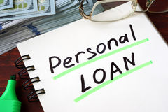 Personal Loan. Stock Photos