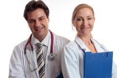 Personal médico feliz fotografía de archivo libre de regalías