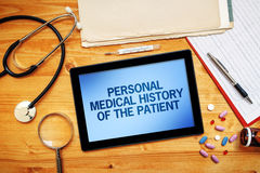 Personal medical history of the patient, healthcare concept Royalty Free Stock Photography