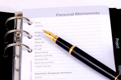 Personal memoranda Royalty Free Stock Photo