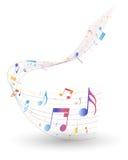 Personal multicolor de la nota musical stock de ilustración