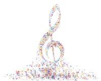Personal multicolor de la nota musical Imagen de archivo libre de regalías