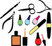 Personal Nail Pedicure And Manicure Style Set Stock Images