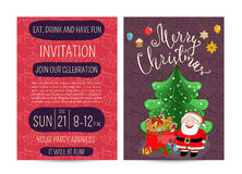 Personal Offer to Join Corporate Christmas Party Royalty Free Stock Photos