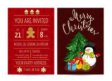Personal Offer to Join Corporate Christmas Party Royalty Free Stock Photo