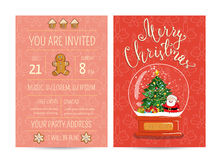 Personal Offer to Join Corporate Christmas Party Stock Image