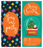 Personal Offer to Join Corporate Christmas Party Royalty Free Stock Image