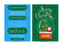 Personal Offer to Join Corporate Christmas Party Royalty Free Stock Photography