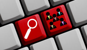 Personal online Lizenzfreie Stockfotos
