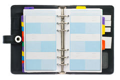 Personal Organizer. Personal black organizer isolated on white Stock Image