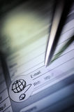Personal organizer. Vertical image of organizer and pen Royalty Free Stock Images
